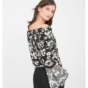White House Black Market Floral Off Shoulder Top